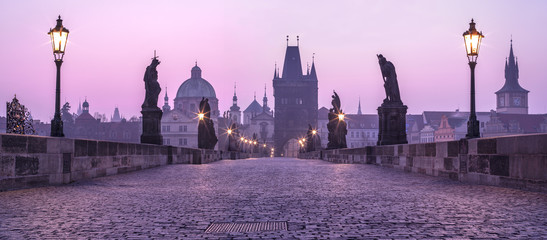 Photo sur Plexiglas Prague Karlov Bridge