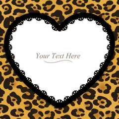 Leopard Spotted Heart Frame