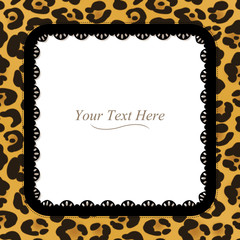 Leopard Spotted Square Frame
