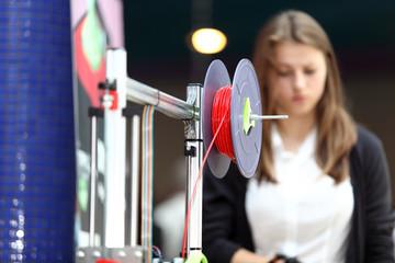Fototapeta Drukarka 3D, szpula z materiałem. obraz