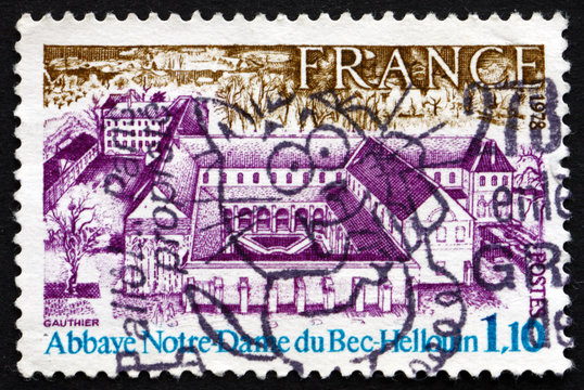 Postage stamp France 1978 Our Lady of Bec-Hellouin Abbey