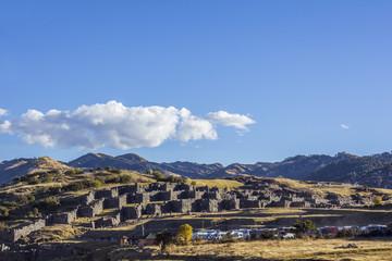 Sacsayhuaman ruins Cuzco Peru