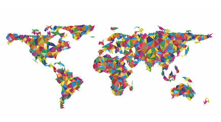Geometric colorful worldmap