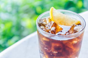Cola lemon glass