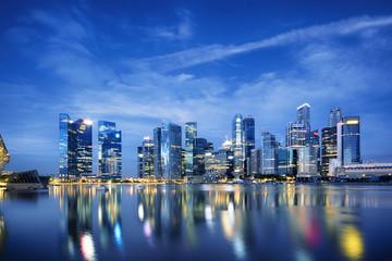 Foto op Plexiglas Singapore Central business district in Singapore.