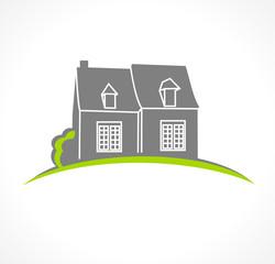 Photos illustrations et vid os de logo maison - Logo maison et objet ...