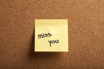 Miss you note