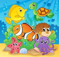 Coral fish theme image 2