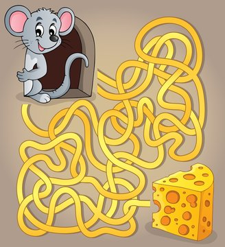 Maze 1 with mouse and cheese