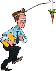 Worker with carrot