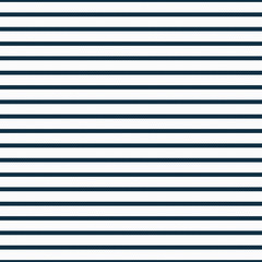 Thin Navy Blue and White Horizontal Striped Textured Fabric Back