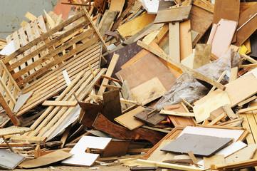 Recyclage bois Fotobehang