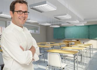 Happy male teacher
