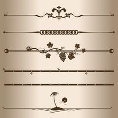 Elements for design - decorative line dividers.