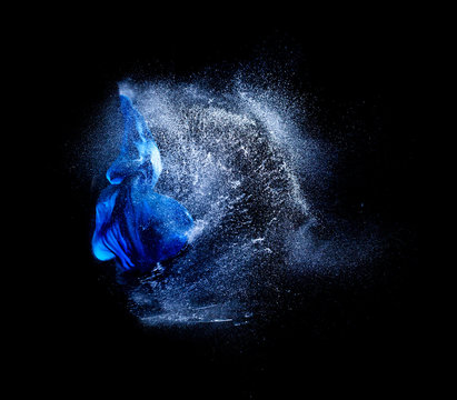 explosions of water balloons hit by a bullet. frozen action from high speed photography. concept of fragility and time.