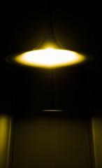Poster UFO Bright lights in dark corridor