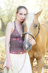 Young lady & horse