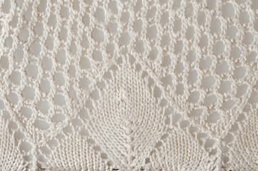crocheted doily, detailed