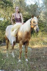 Young lady on horseback