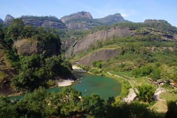 Canyon in Wuyishan Mountain, Fujian province, China