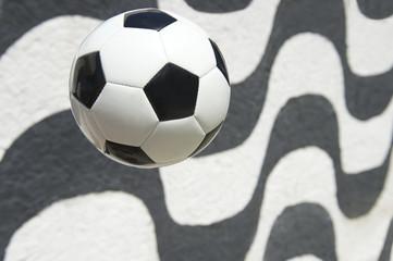 Football Soccer Ball Copacabana Boardwalk Rio Brazil