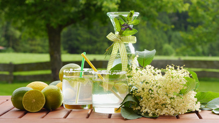 homemade summer drink of elderflower