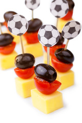 Fußball Party Snacks in Schwarz Rot Gold