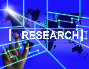 Research Screen Represents Internet Researcher or Experimental A