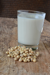 Soy milk with beans
