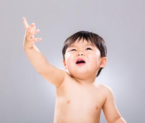 Baby hand up
