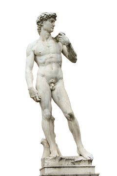 Statue of Michelangelo's David front of the museum Palazzo Vecch