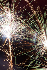 Beautiful abstract colorful fireworks