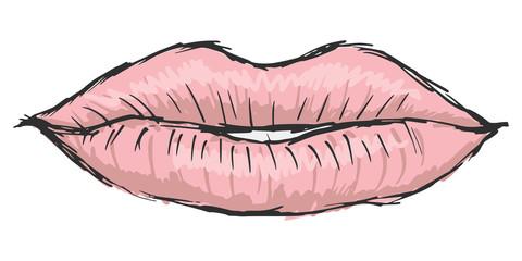 lips of woman