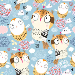 texture owls in the clouds