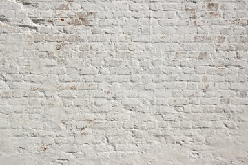 Zelfklevend Fotobehang Baksteen muur White grunge brick wall background