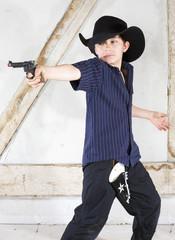 young boy as a cowboy
