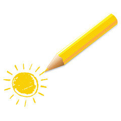 Yellow Pencil With Drawing