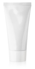 Cosmetic tube of cream or gel on white with clipping path