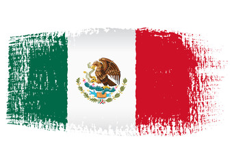 brushstroke flag Mexico