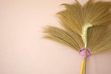broom on wall