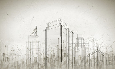 Wall Mural - Construction model