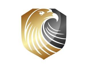 hawk logo eagle symbol gold financial icon