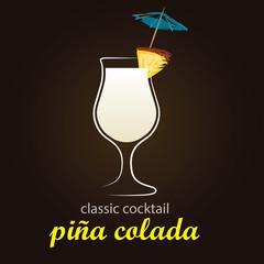Pina Colada in authentic Poco Grande glass