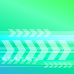 abstract blue green background with transparent arrows