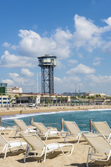 Barcelona beach panorama, Spain