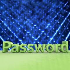 Password - 3d Render