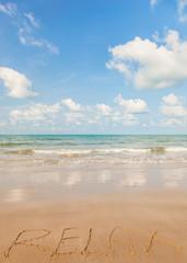 Relax on a tropical beach