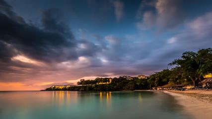 Caribbean sunset over a Jamaican cove