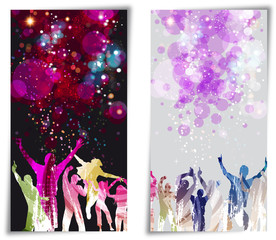 Set Banner disco party