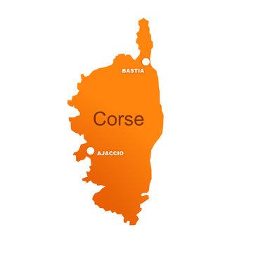 région corse avec préfectures